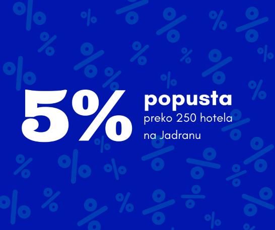 Ostvari dodatnih 5% popusta na ljetovanje na Jadranu!